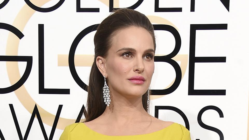 Natalie Portman at the 74th annual Golden Globe Awards in Beverly Hills.