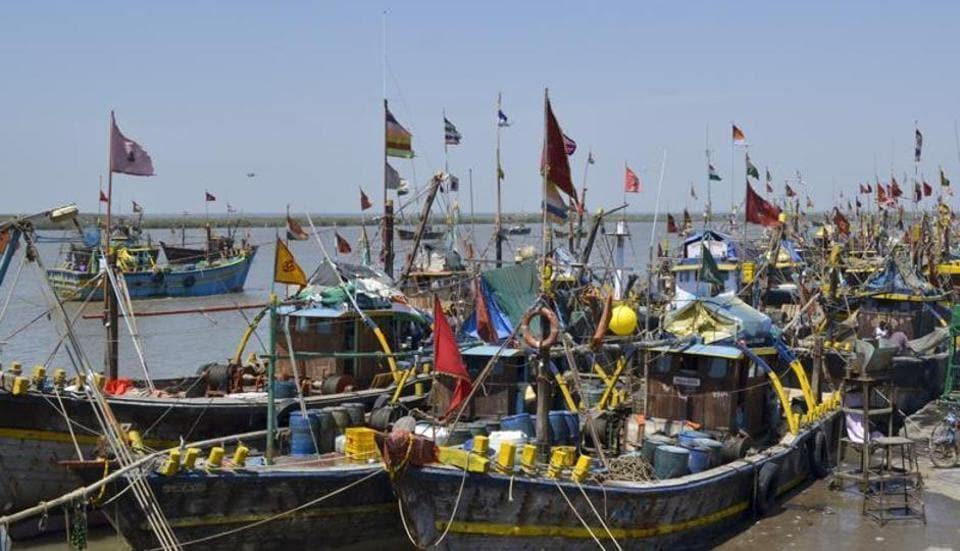 The boats from Okha and Mangrol on Gujarat coast were seized near the International Maritime Boundary Line (IMBL).