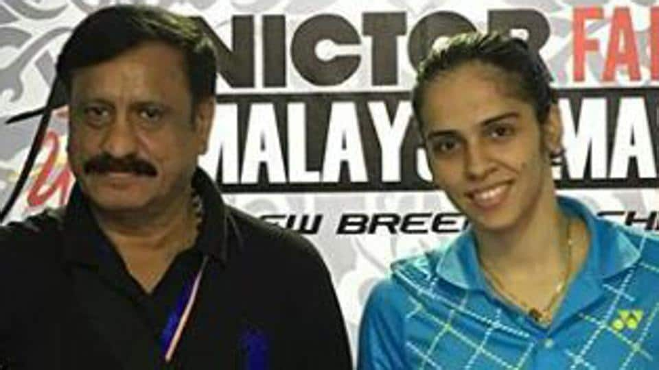 Avinash Mishra (left), an anti-terror squad officer, accompanied the national squad that included Saina Nehwal to the Malaysian Masters GPGold event in January.