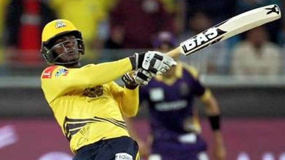 Peshawar Zalmi skipper Darren Sammy in action during the Pakistan Super League.