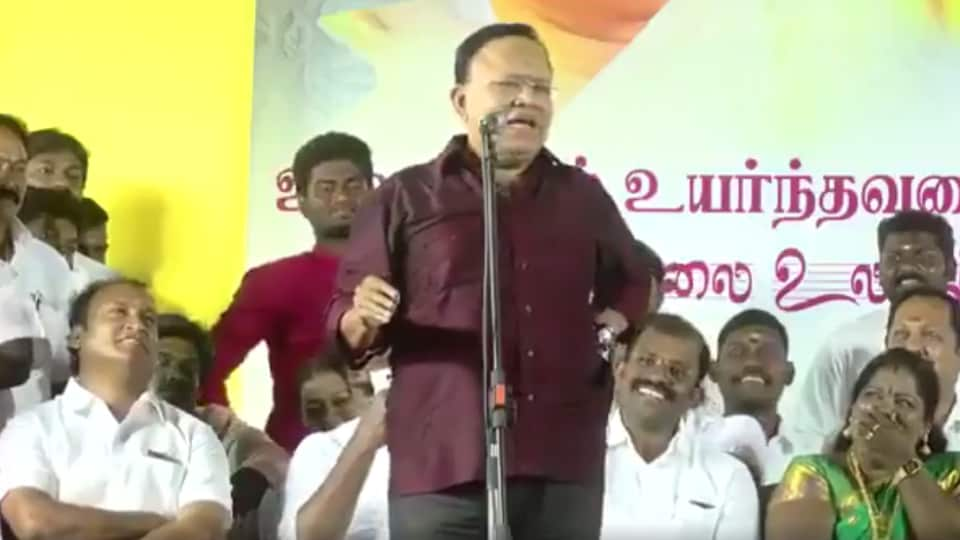 Tamil actor-turned-politician Radha Ravi of the DMK is under fire for a speech in which he impersonated differently-abled children and compared them to political rivals.