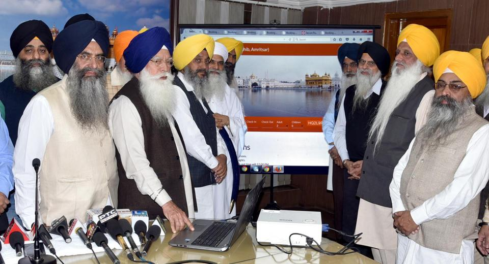 "The online booking has been started at Mata Ganga Niwas having 88 rooms and the facility will soon be available in other ""serais"" of the SGPC."
