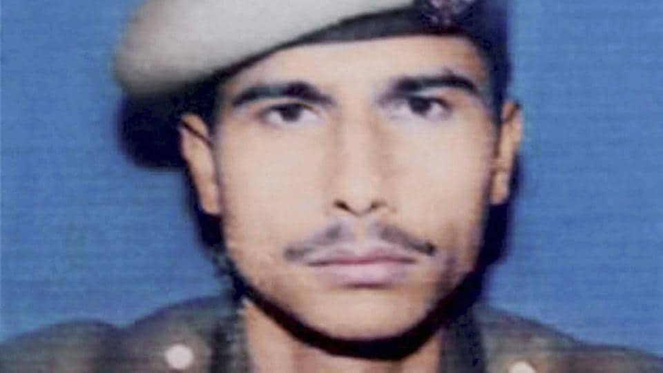 Jammu & Kashmir Police constable Manzoor Ahmed who laid down his life while fighting militants in Tral.