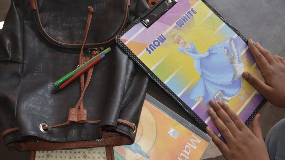 The girl said that the tablet helped her connect with friends, teachers in her new school.