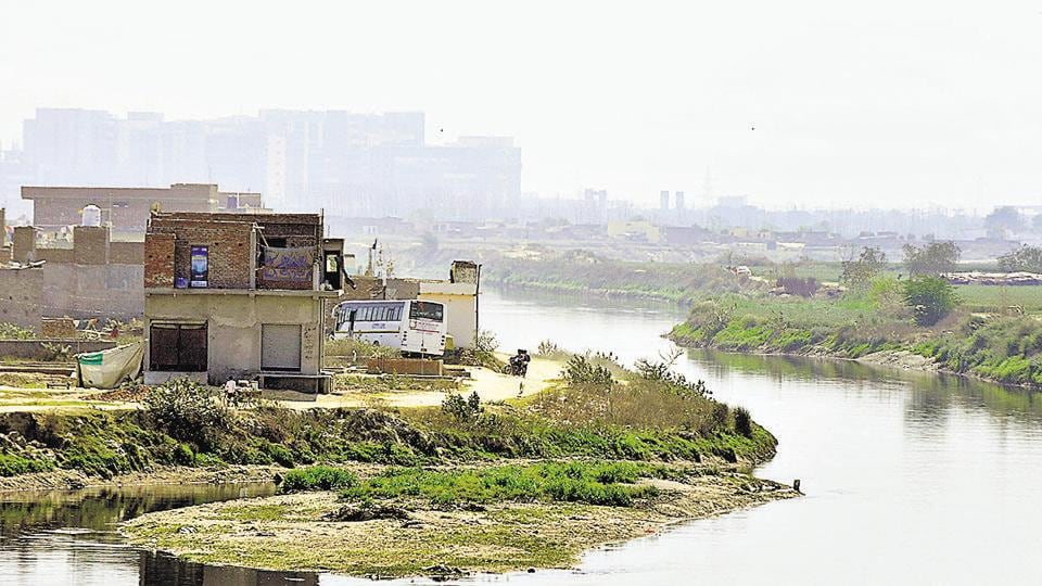 The Hindon merges with the Yamuna in Sector 150 of Noida, after flowing through Noida and Greater Noida.