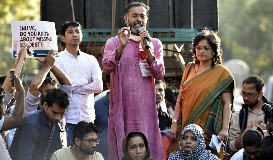 Political leader Yogendra Yadav is the founder of Swaraj India. He released the party's vision document for Delhi MCD polls.