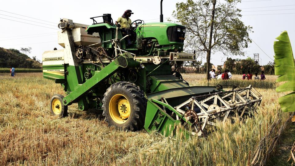 The West Bengal government has deployed combined harvester machines to clear the fields of the standing crops in Nadia district  on March 4.