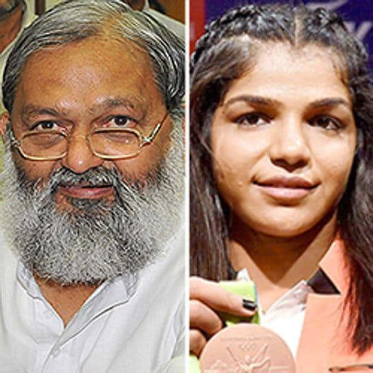 Haryana sports minister Anil Vij has trashed wrestler Sakshi Malik's claim  that the state had not kept its promises made to her for winning an Olympics bronze last year in Rio.