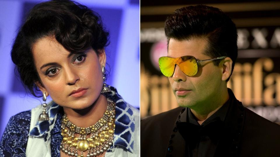 Filmmaker Karan Johar says actor Kangana Ranaut doesn't understand the real meaning of nepotism.