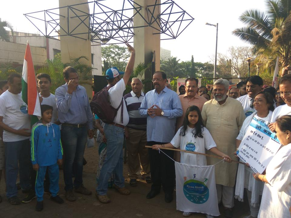 Participants during a rally on Sunday.