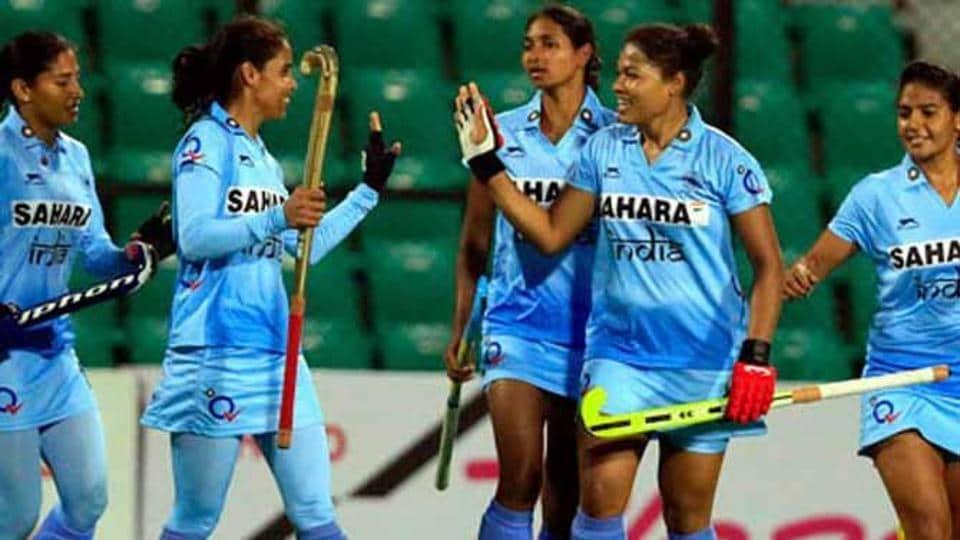The Indian women's hockey team beat Belarus 2-1 on Monday.