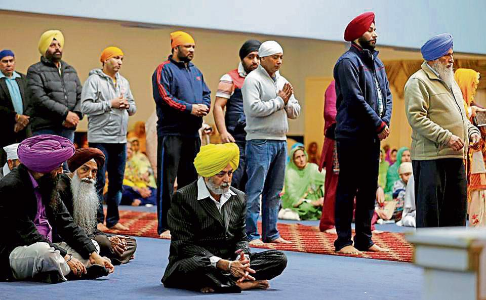 People attending Sunday services at the Gurdwara Singh Sabha in Renton, Washington, about one mile from Friday night's shooting on a Sikh man in the US.