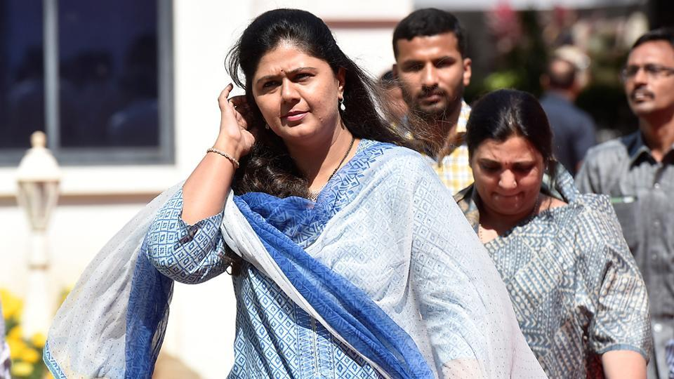 BJP minister Pankaja Munde on the first day of the session.  (Kunal Patil/HT Photo)