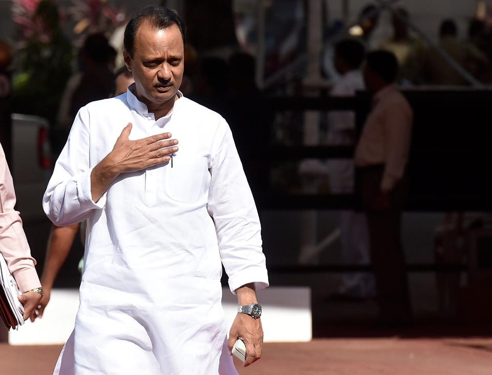 NCP leader Ajit Pawar attends the session on Monday. (Kunal Patil/HT Photo)