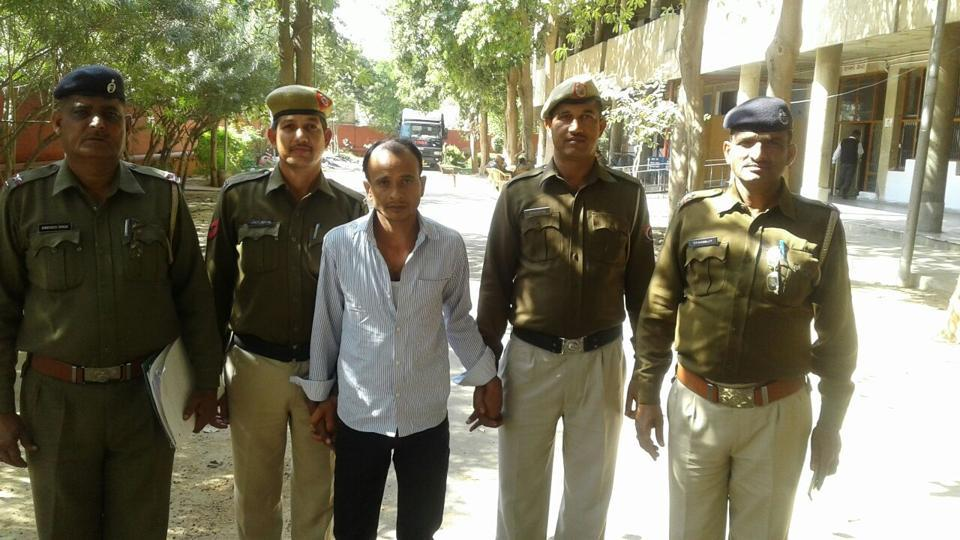 Police arrested Upendra Kumar on Sunday when he came to collect the extortion money from Rewari DC Yash Garg.