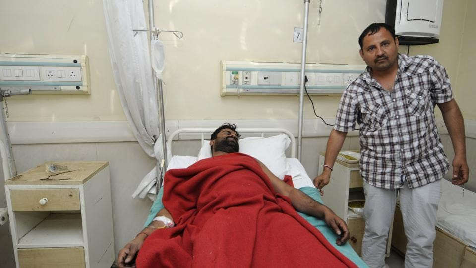 Avnesh was injured in his leg and was admitted to the district hospital in Noida.