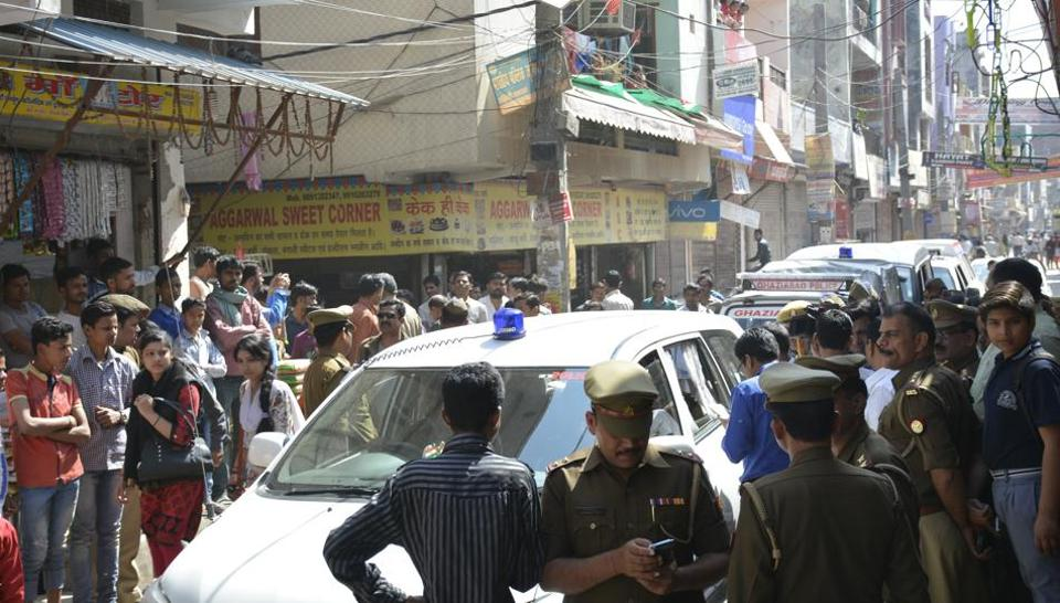 The police said the attack was one of road rage. The locality remained tense on Monday.