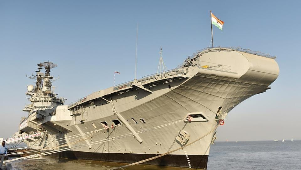 Indian Naval Ship Viraat, the oldest serving aircraft carrier, was decommissioned on March 6. (Anshuman Poyrekar/HT Photo)