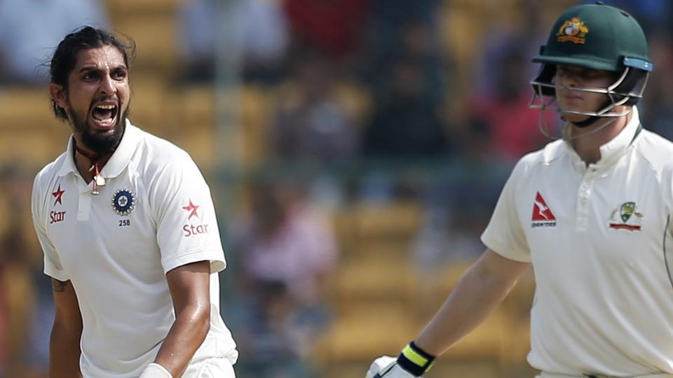 Ishant Sharma's banter with Australia captain Steven Smith (right)on Sunday made quite a few headlines.