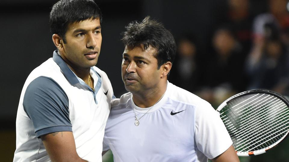 Rohan Bopanna (left) marks his return to the Davis Cup team after being excluded from the tie against New Zealand in February, while it will be one more Davis Cup campaign for veteran Leander Paes.