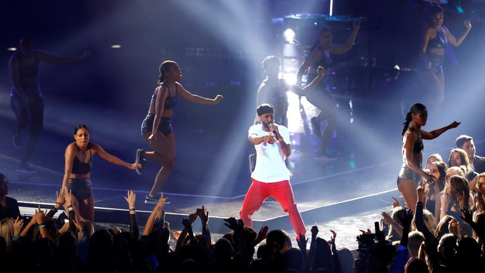 Singer Big Sean performs during the 2017 iHeartRadio Music Awards on Sunday in California, US. (REUTERS)