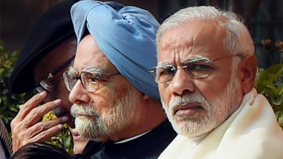 Former Prime Minister Manmohan Singh (seen here with Prime Minister Narendra Modi) was not a weak Prime Minister but a diffident one, according to former union minister and senior Congress leader Manish Tewari.