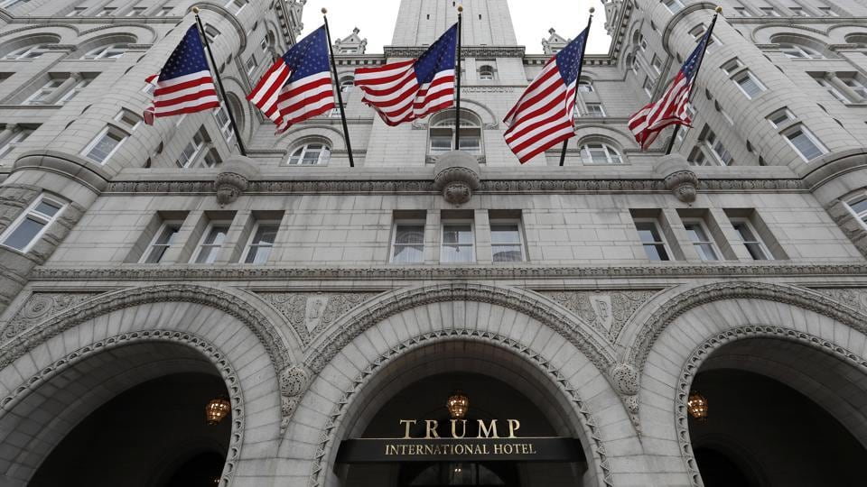A picture of the Trump International Hotel in Washington. Trump's $200 million hotel inside the federally owned Old Post Office building has become the place to see, be seen, drink, network, even live, for the still-emerging Trump set.