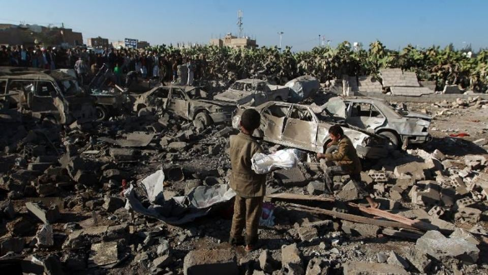 Two children, aged 10 and 12, were killed in a suspected US air strike targeting al-Qaeda in central Yemen.