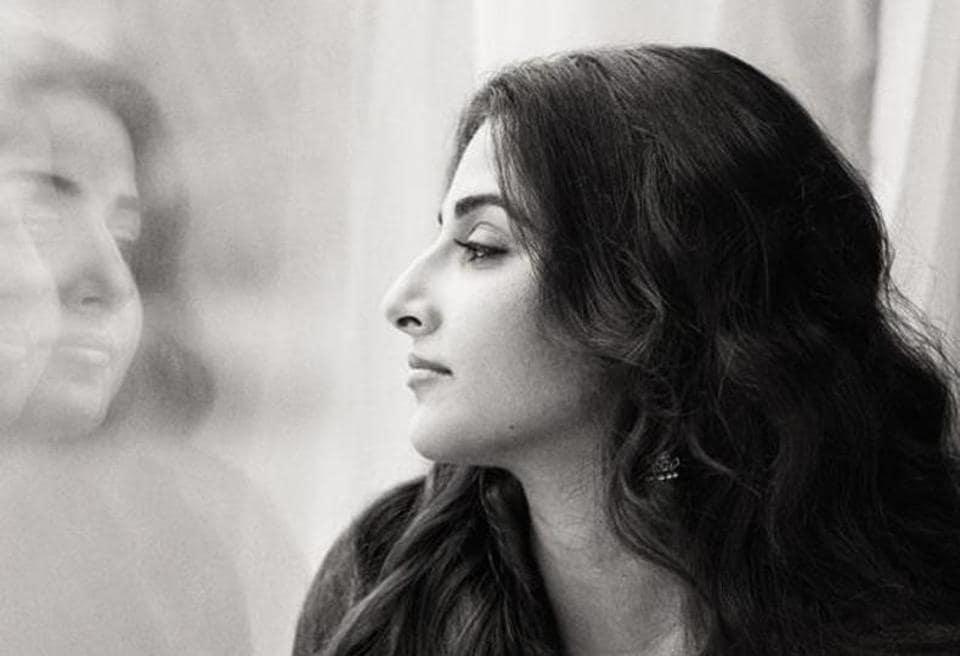 Vidya Balan posing without makeup for an exclusive HT Brunch photoshoot.