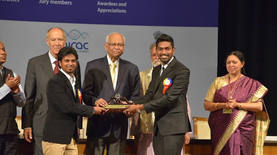 Students of the Indian Institute of Technology-Kanpur (IIT-K), who developed a prototype of a Braille slate called 'Anubhav', were presented with the Gandhian Young Technological Innovation Award-2017 during a function held at Rashtrapati Bhawan on March 5.