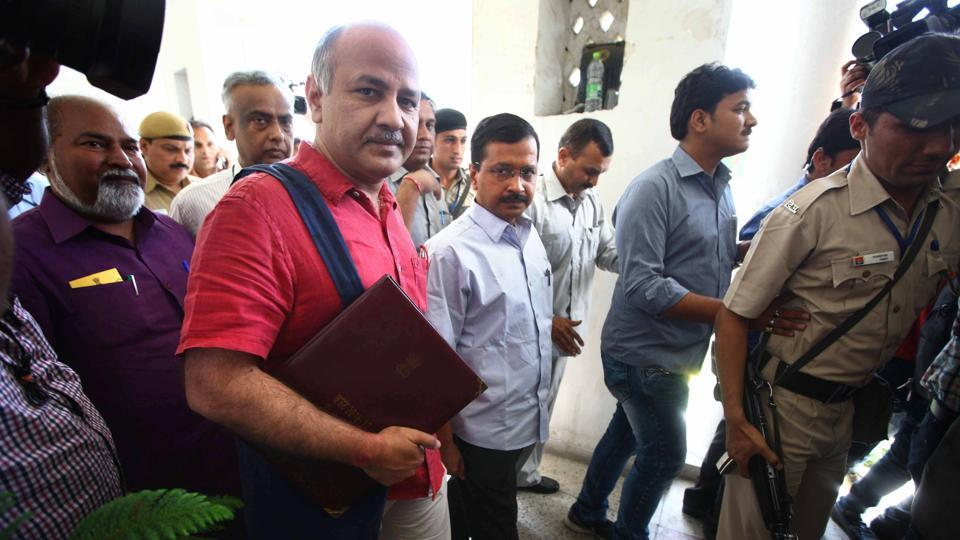 Finance minister Manish Sisodia will table the 2017-18 budget in the Delhi assembly on Wednesday. (Arun Sharma/HT File)