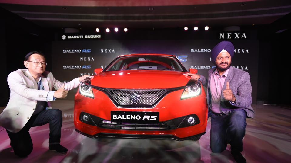 The Maruti Suzuki Baleno RS hatchback has officially been launched in India. The Baleno RS has been priced at ₹ 8.69 lakh and is available exclusively through the Nexa outlets. (Sonu Mehta / HT Photo)