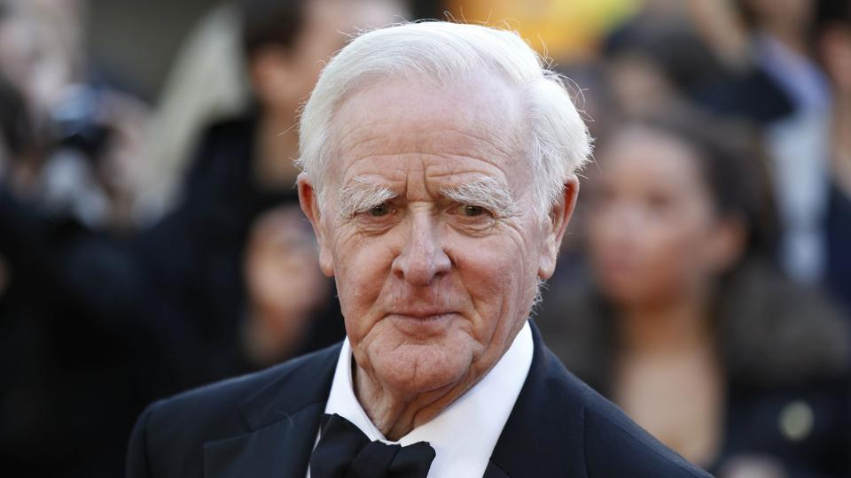 File photo of British author John Le Carre at the UK film premiere of