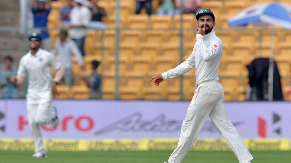 Virat Kohli has hit back at Nathan Lyon's 'snake' comment after India's 75-run win over Australia in Bangalore.