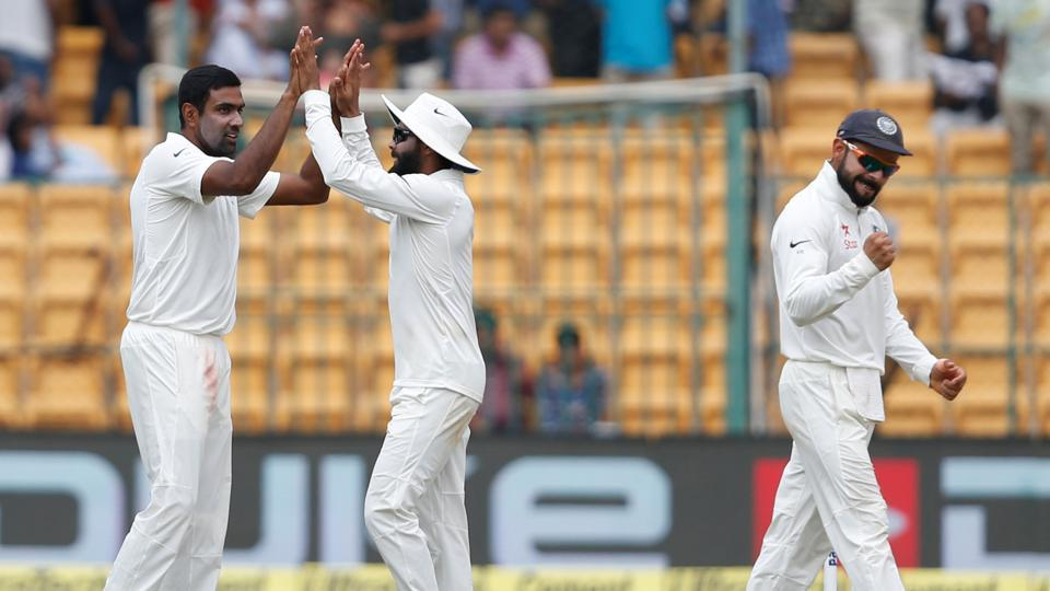 Ravichandran Ashwin picked up his 25th five-wicket haul as India staged a remarkable comeback to win the Bangalore Test by 75 runs to level the series.