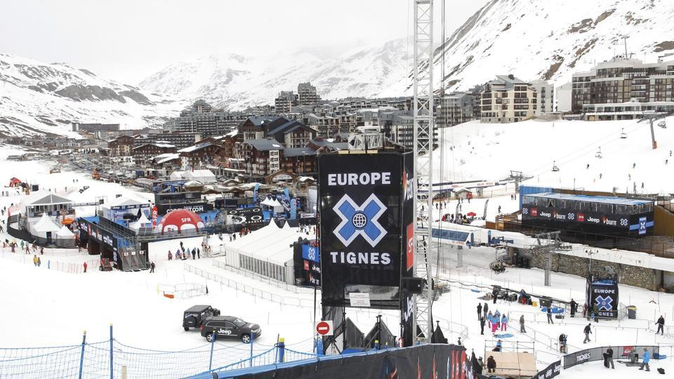 A general view of the alpine ski resort in Tignes, France, March 15, 2011.