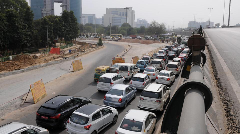 Snarlshad become a regular occurrence at the chowk as the road width was severely compromised and limited lanes were available for traffic movement.