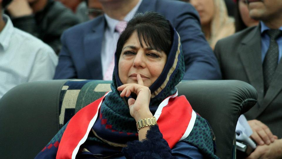 Jammu and Kashmir chief minister Mehbooba Mufti during the Red Cross Mela at Gulshan Ground in Jammu on Saturday.