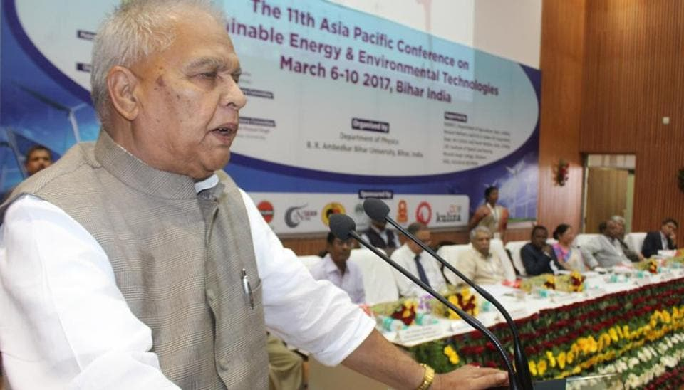 Bihar energy minister Bijendra Prasad Yadav, speaking at the 11th Asia Pacific Committee on Sustainable Energy & Environmental Technologies meet in Patna.