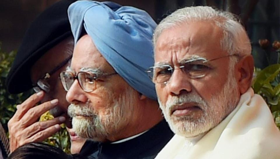 Prime Minister Narendra Modi had last week mocked economists and made a veiled attack on his predecessor Manmohan Singh who had said the Centre's demonetisation decision would lead to a slow growth rate.