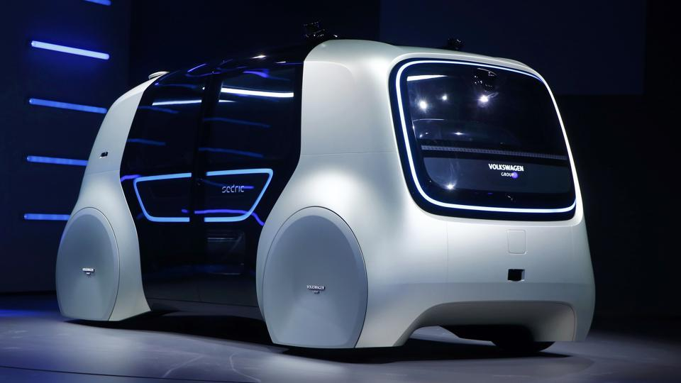 Volkswagen Sedric concept car is seen during the 87th International Motor Show at Palexpo in Geneva, Switzerland.
