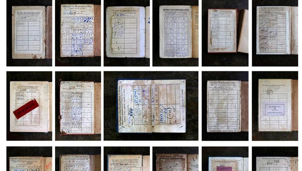 A compilation of date sheets showing when books were borrowed from The People's Reading Room and Library  (Photo courtesy: Chirodeep Chaudhuri)