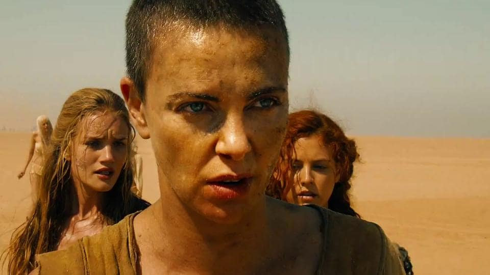 Charlize Theron as Imperator Furiosa in a still from Mad Max: Fury Road.