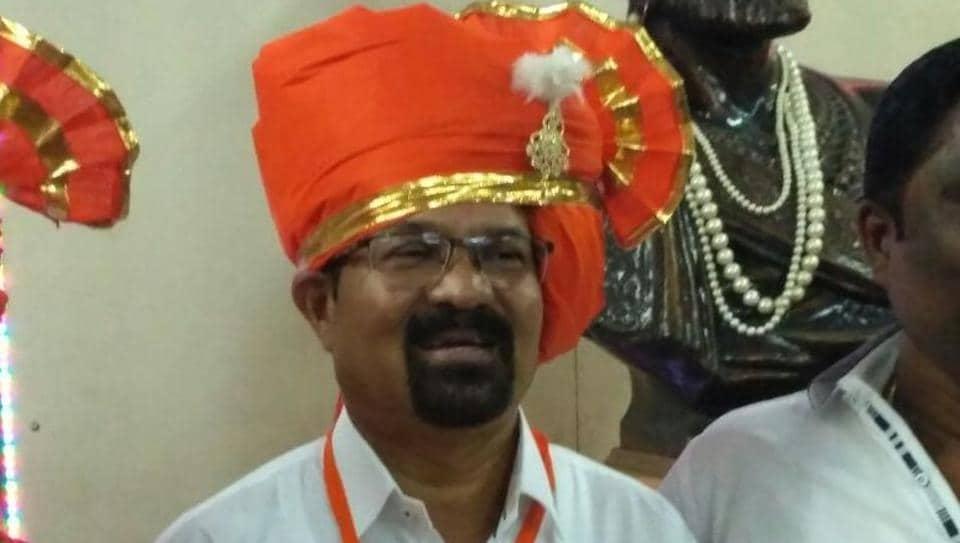 Mumbai's 76th mayor Vishwanath Mahadeshwar before the mayoral election on Wednesday at BMC HQ.