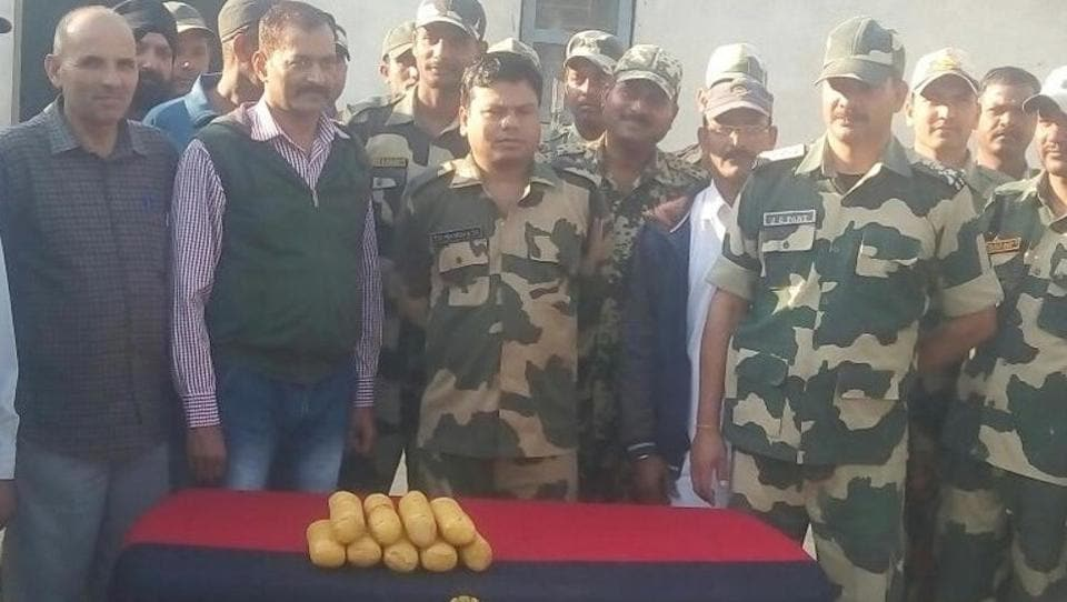 Nine packets were recovered by the BSF troops.