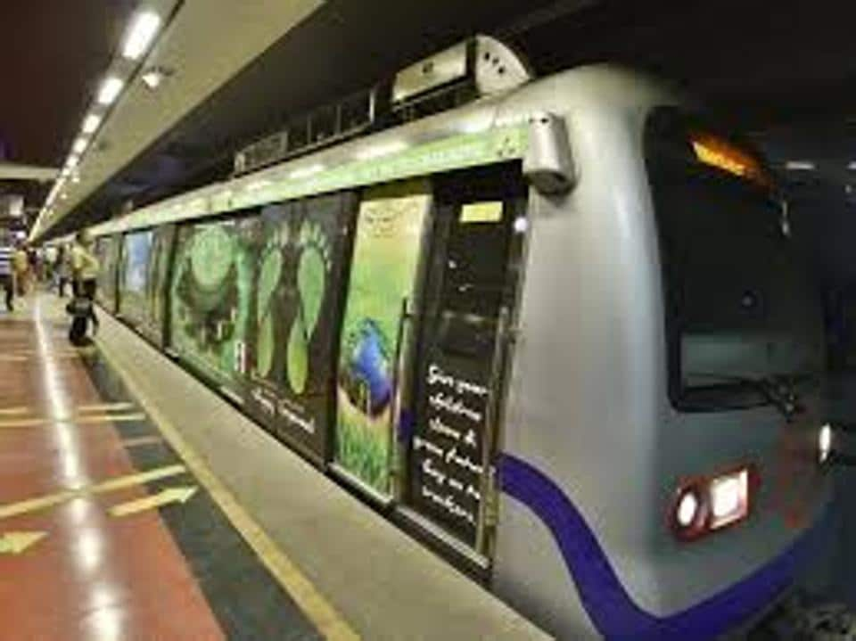A 55-year-old man fell down on the Metro tracks due to giddiness and was crushed to death under a Delhi Metro train onWednesday.