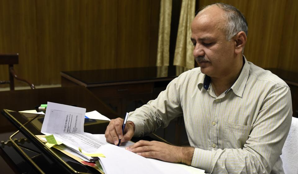 Deputy chief minister and and finance Minister of Delhi Manish Sisodia gives final touches to Delhi Budget 2017-18.