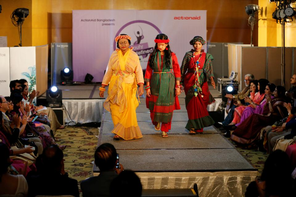 Acid attack survivors in Bangladesh took to the catwalk to challenge conventional beauty standards on the eve of International Women's Day. (Mohammad Ponir Hossain / REUTERS)