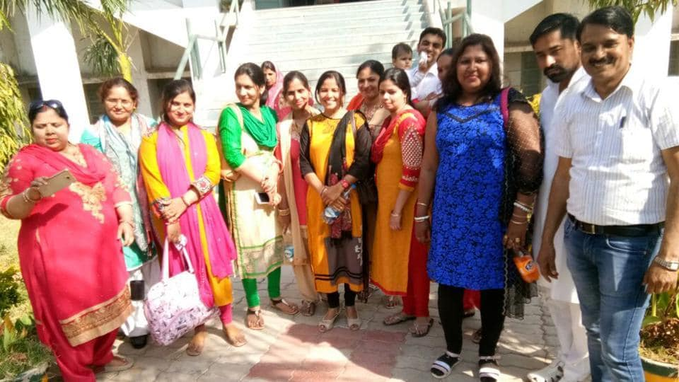 Eight women sarpanchs from Ghaziabad district attended the 'Swachh Shakti - 2017' conclave held in Gandhi Nagar, Gujarat.