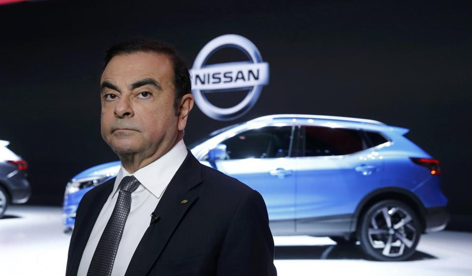 Carlos Ghosn, chairman and CEO of the Renault-Nissan Alliance looks on during the 87th International Motor Show at Palexpo in Geneva, Switzerland, March 7, 2017. REUTERS/Denis Balibouse